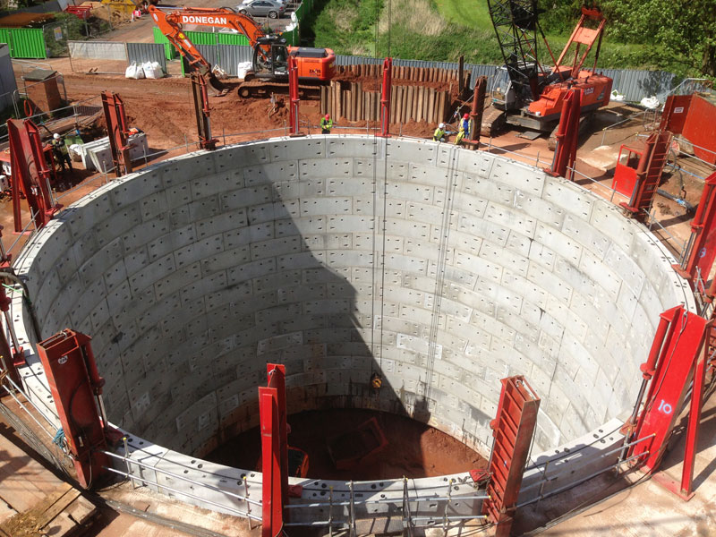 Further construction on segmental shaft