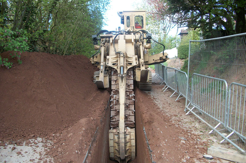 Runcorn Trial Holes and Trenching - opencut drainage
