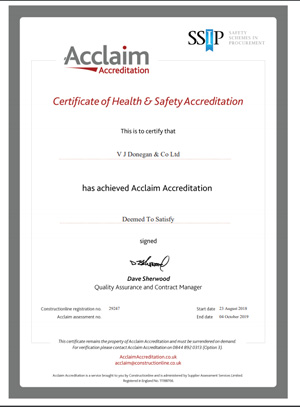 Acclaim Accreditation - Certificate of Health and Safety Accreditation